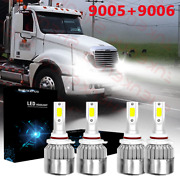 For Freightliner Columbia 2004-15 Led Headlight Bulbs Conversion Kit Hi/lo Beam