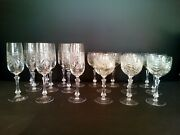10 Glass Wine 10 Flute A Champagne Crystal Cristallerie Of Lorraine Lalique