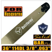 3/8 .063 36 Inch 114dl Guide Bar Compatible With Husqvarna 394 395 480 562 570