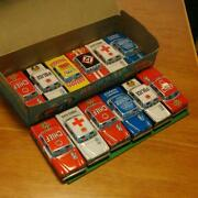 Vintage Tinplate Friction Car Model Toys Lot Of 12 With Box Rare From Japan 5e