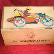 Paya Vintage Tinplate Collection Toys Sidecar Motorcycle Limited With Box Rare