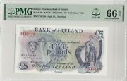 1985 Ireland Northern Bank Of Ireland Five Pounds Pmg66 Gem-uncirculated