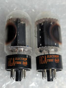 6l6gc Rca Black Plate Kt66 Power Tube Vintage Pair Curve Tracer Tested