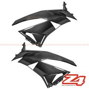 Discount 2009-2012 Zx-6r Front Side Radiator Panel Fairing Cowling Carbon Fiber