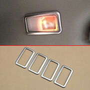 Chrome Interior Rear Roof Reading Light Cover Trims For Toyota Sienna 2015-2020