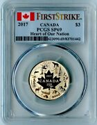 2017 Canada Pcgs First Strike Sp69 Silver Heart Of Our Nation S3
