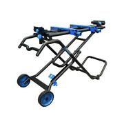 Delta Mobile Miter Saw Stand Support Power Tool Accessory Folding Rolling Wheels