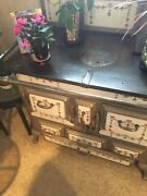 Late 19th Century Ceramic And Cast Iron Stove. A Work Of Art. All Original