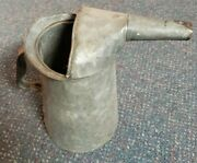 Vintage Oil Water Can With Spout 1/2 Gallon 2 Quart Galvanized Metal