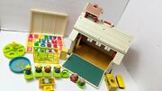 Vintage Fisher Price Little People Play Family School House Loaded