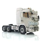 1/14 66 Lesu Metal Chassis Hercules Scania Tractor Truck Hook Roof Light Horn