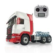 1/14 Lesu 66 Metal Chassis Radio Painted Hercules Scania Cabin Rc Tractor Truck