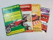 Lot Of 4 Rodding And Re-styling, Rods Illustrated 1958 Magazine - Little Books