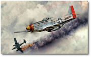Fearless By Peter Chilelli - North American P-51 Mustang - Aviation Art Print