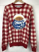 Limited Edition Martin Parr X House Of Holland Delft Blue Coffee Tea Sweater L