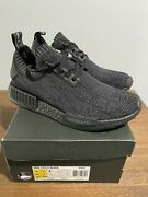 """Adidas Nmd R1 """"pitch Black"""" Ff Size 7.5 S80489 Brand New Only 500 Pairs Made"""
