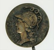 Sterling Silver Athena In War Helmet Greek Snake Owl Totems Coin Stick Hat Pin