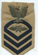 Us Navy Aviation Store Keeper Cpo 1st Class Bullion Tan Rating Patch