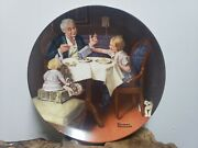 Knowles Plates - Decorative Plate - Norman Rockwell - The Gourmet