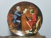 Knowles Plates - Decorative Plate - Norman Rockwell - The Professor