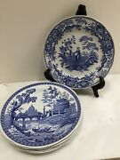New Spode The Blue Room Tradition Series Set Of 6 Dinner Plates England