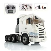 Lesu 88 Metal Chassis 1/14 Scania Rc Tractor Truck Sound Hercules Cabin Light