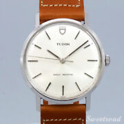 Tudor Ref.9800 1967 Manual Winding Leather Belt Stainless Menand039s Watch [b1031]