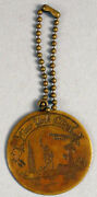 Antique Nyc Key Chain Fob Coney Island Empire State Building Statue Of Liberty