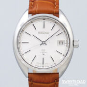 Seiko 45gs Cal.4522a High Beat Manual 1971 Leather Stainless Menand039s Watch[b1031]