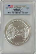 2011-p Sp70 First Strike Chickasaw American The Beautiful Atb 5oz Silver Pcgs
