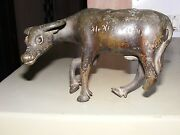 Antique Early Mughal Ink Pot Buffalo One Horn And Leg Damage