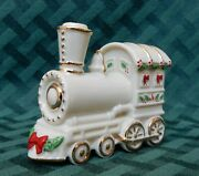 Lenox Holiday Train Engine Ornament Gold Trimmed Fine China 2000 New In Box