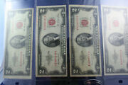 4 2 Dollar 1953, 1953b Red Seal United States Notes