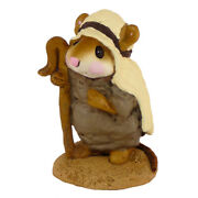 Wee Forest Folk Shepherd Standing, Wff M-122b, Nativity Mouse