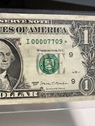 2017 1 Star Trinary Note 00007709 Number Extremly Rare Low Print 250000 Only!