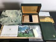 Genuine Rolex Oyster Box With Booklet Card Holder