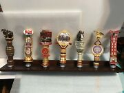 Budweiser Limited Edition Collection. 7 Beer Tap Handles. Stand Included.