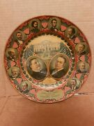 Antique 1908 William Taft For President Lithograph Plate Abraham Lincoln Rare