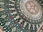 Extra Fine Double Signed Pour Nami Pershian Tabrizz Rug Gonbad Full Of Silk