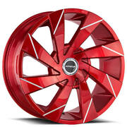 4ea 22 Strada Wheels Moto Candy Apple Red Milled Rimss42