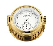 Wempe Cw140007 Globaltec Brass Cup Thermometer/hygrometer 140x 47mm W/b