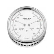 Wempe Cw250015 Globaltec Pilot V Stainless Steel Thermometer/hygrometer 100x35mm