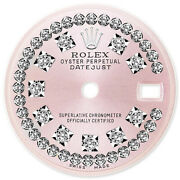 Refined Ladies Ss Datejust Pink Antique String Diamond Dial For Rolex-26