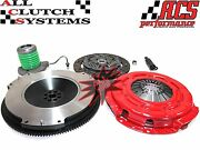 Acs Stage 1 Clutch Kit+slave Cy+race Flywheel 2005-2010 Ford Mustang 4.0l V6