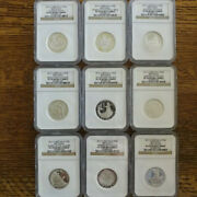 2012 Britannia Silver 25th Annv Set 9 1/2-ounce Proof Coins Ngc 6-pf70 3-pf69