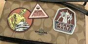 Star Wars Coach Collaboration Pouch Shoulder Wallet Bag Limited Rare From Japan