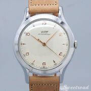 Tissot Antimagnetic Cal.27.2.t / 1940s Leather Stainless Menand039s Watch[b1103]