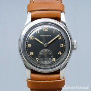 Longines 1940s Arabic Index Manual Winding Leather Stainless Ladies Watch[b1104]