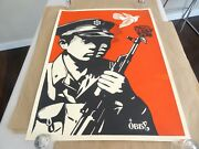 2006 Obey Chinese Soldier Shepard Fairey Art Print 18x24 Artists Test Proof Ap