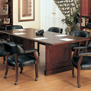 6ft - 12ft Traditional Conference Table 8ft Lawyerand039s Conference Table Mahogany